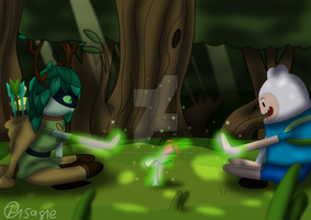 Adventure Time - Learning magic by Petrus-C-Visagie