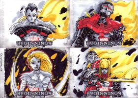 MARVEL BEGINNINGS 3 SKETCH CARDS 5 by CRISTIAN-SANTOS
