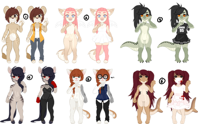 [OPEN] $6 furry adoptables 5/6 by qurogoat