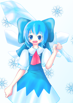 Cirno drawing contest entry by danley