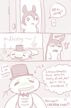 Adventures with CAFETERIA FOOD by chibiphlosion