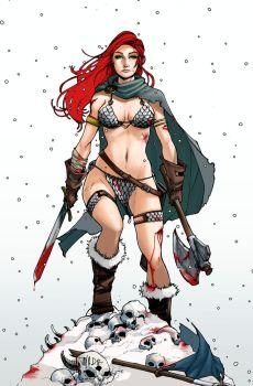 Red Sonja  ~ She Devil with a Sword... and Ax. by Harpokrates