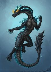 Lagiacrus Girl Commission by StriderDen