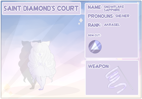 -:Saint Diamond's Court:- Snowflake Sapphire by Cristal-Tears