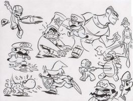 Video Game Doodles by dfridolfs