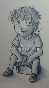 Selfportrait -Chibi Manga Version- by Renow54