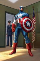 Captain America origin by JPRart
