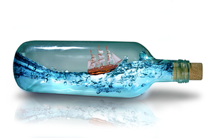 Ship in a bottle by MinionDoesArt