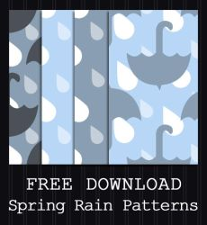 FREE DOWNLOAD - Spring Rain Patterns by PointyHat
