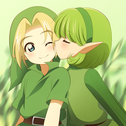 CM: chocolate-ocarina ~ Link and Saria by KurumiErika
