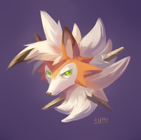 Dusk Lycanroc by VatrushkaBoli
