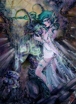 where your heart lies || tyrande x illidan by retromortis