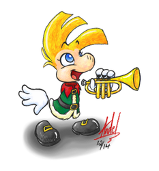 Christmas Rayman by Shadow-Link-77