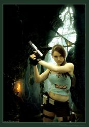 Lara Croft photomanipulation by illyne