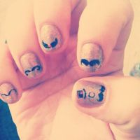 Movember Nails by notannounced