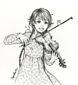 Inktober 2017 Day:19 - Violin by IngridTan