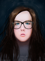 Rose Portrait - Realistic Digtial Painting by Gubnub