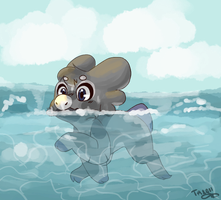 Swimmer Orion by Taeqii