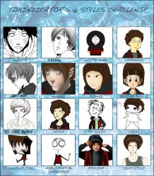 16 Styles Challenge of ChangMin by ClassyNaru