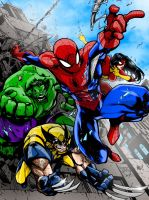 AVENGING SPIDERMAN colors by CThompsonArt