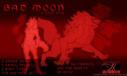 ANTHRO BASE #3 - BAD MOON by planetsrings