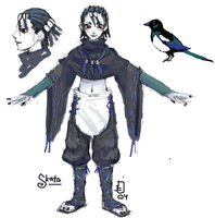 magpie character by emlan