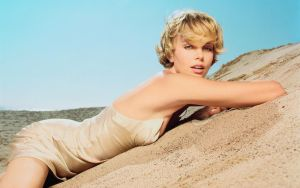 charlize theron by floppe