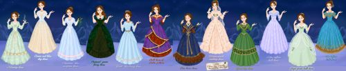 Outfit sketches in Snow Scene by Arrelline