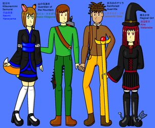 Naomi and the Gang 2011 version by DragonQuestWes