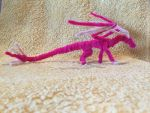 Advanced Light and Bright Pink Pipecleaner Dragon by IsellaHowler