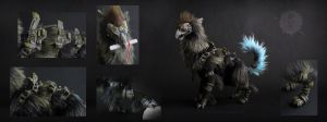 Castor - the Guardian of Memories Poseable artdoll by hikigane