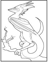 Bird Dragon Lineart by Kendra-candraw