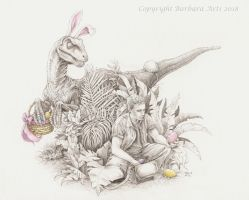 Happy Jurassic Easter! by Ejderha-Arts