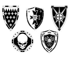 Detailed Free Vector Shields by artamp