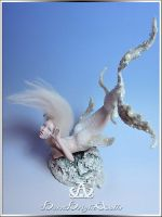 Aquatica Mermaid OOAK Sculpture by bornbrightdolls