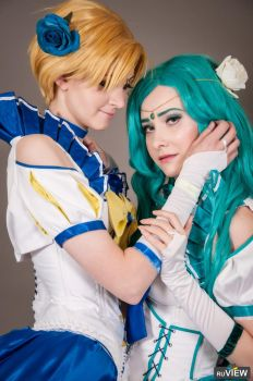 Sailor Neptune and Sailor Uranus, M.O.Con 2017 by Shiera13