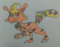 Vulpix/Electabuzz fusion by Nateevee