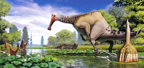 Deinocheirus with corrections by Olorotitan