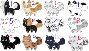 Warrior Cat Adoptables ~~OPEN~~ by Oak-Storm