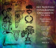 Page 16 and 17 Art Nouveau Typographic Ornaments by AllThingsPrecious