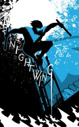 nightwing Blue Serif by artist Tom Kelly by TomKellyART