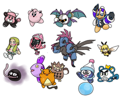 Kirbymon, kirby and pokemon AU