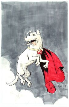 Krypto the Super dog commissio by RyanOttley