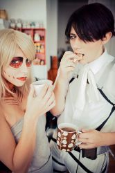 Attack on TEA-tan-TIME //backstage by VUNoxcraft