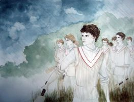 Cricket match by LauraTolton