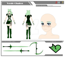 Verde Chaton [OC REF] by BlueBookWard