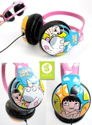 He is so fluffy headphones by Bobsmade