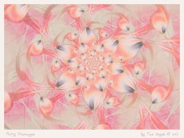 Pretty Flamingos by aartika-fractal-art