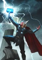The Mighty Thor Print by OzWonderland