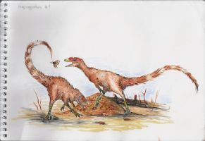 Compsognathus sketch by Antresoll